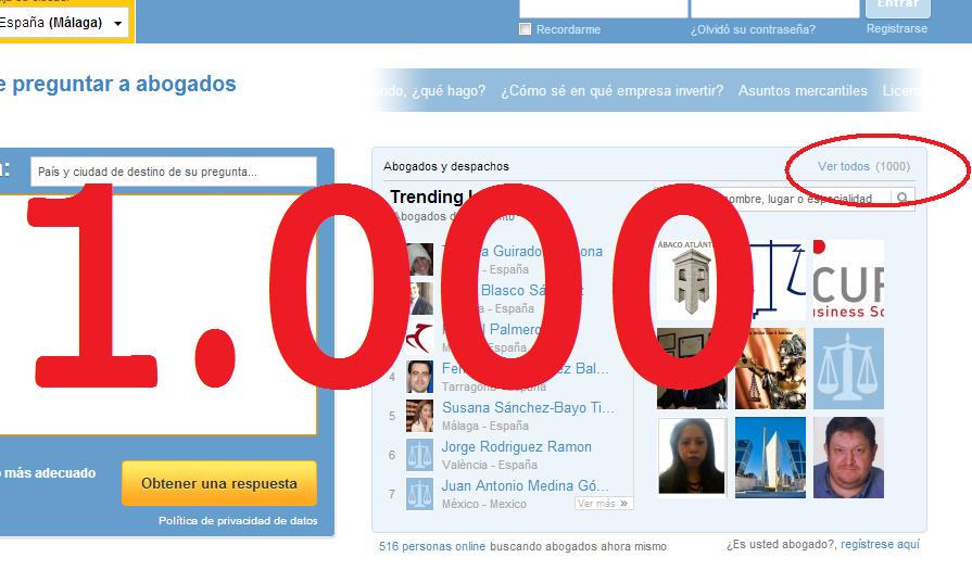 Ya hay 1000 perfiles de abogados y despachos de abogados en posttigo.com
