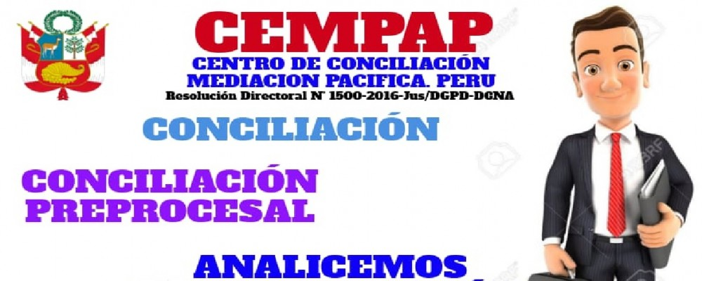 presentacion CENTRO DE CONCILIACION CEMPAP / ASESORIA  JURIDICA