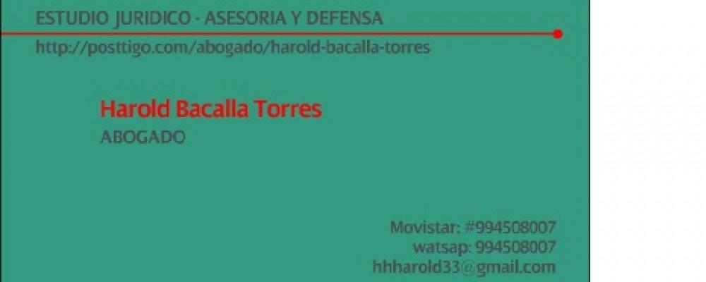 presentacion Harold Bacalla Torres
