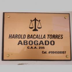 Harold Bacalla Torres abogado